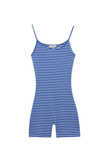 Strappy playsuit with stripes