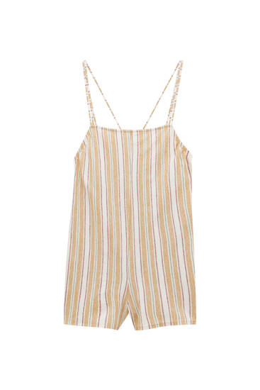 Striped rustic playsuit