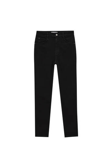 Skinny jeans with very high waist