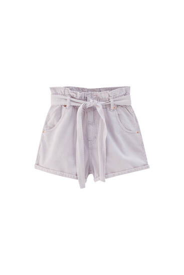 Kratke hlače paperbag kroja s remenom