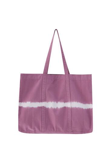 Tie-dye cotton bag