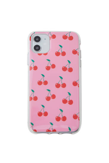 All-over cherry print smartphone case