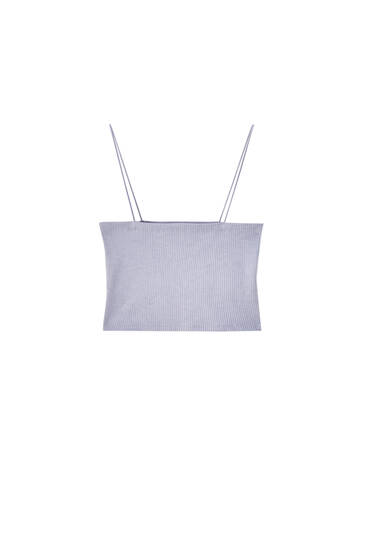 Crop top with thin straps