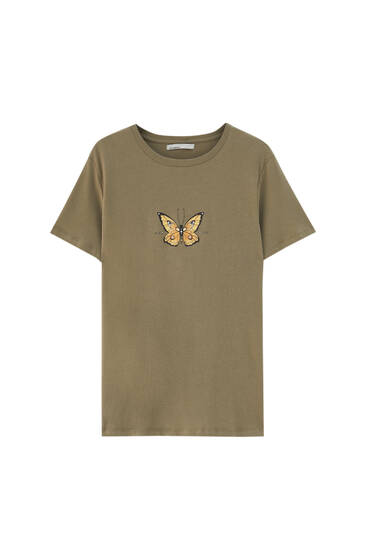 T-shirt with horse graphic