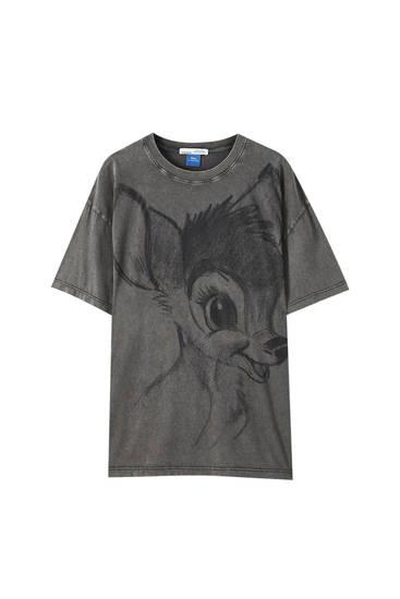 Playera negra ilustración Bambi