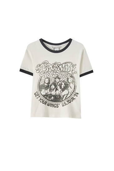 Aerosmith T-shirt with contrast trim