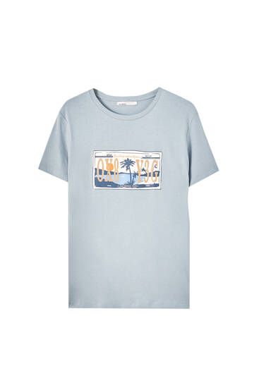 Registration plate illustration T-shirt