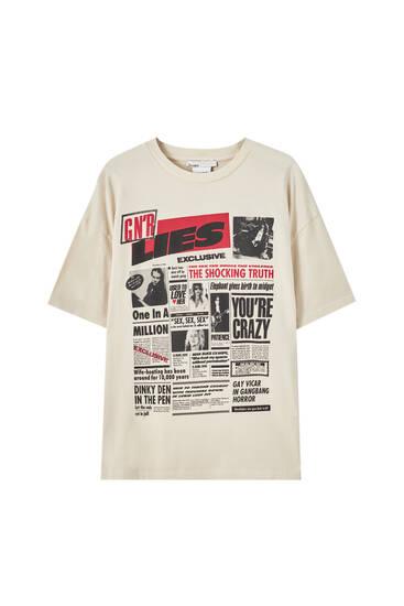 Guns N' Roses newspaper T-shirt