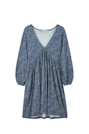 Mini dress with 3/4 sleeves