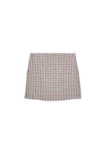 Colourful check mini skirt