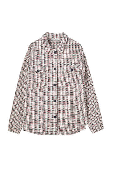 Colourful check overshirt