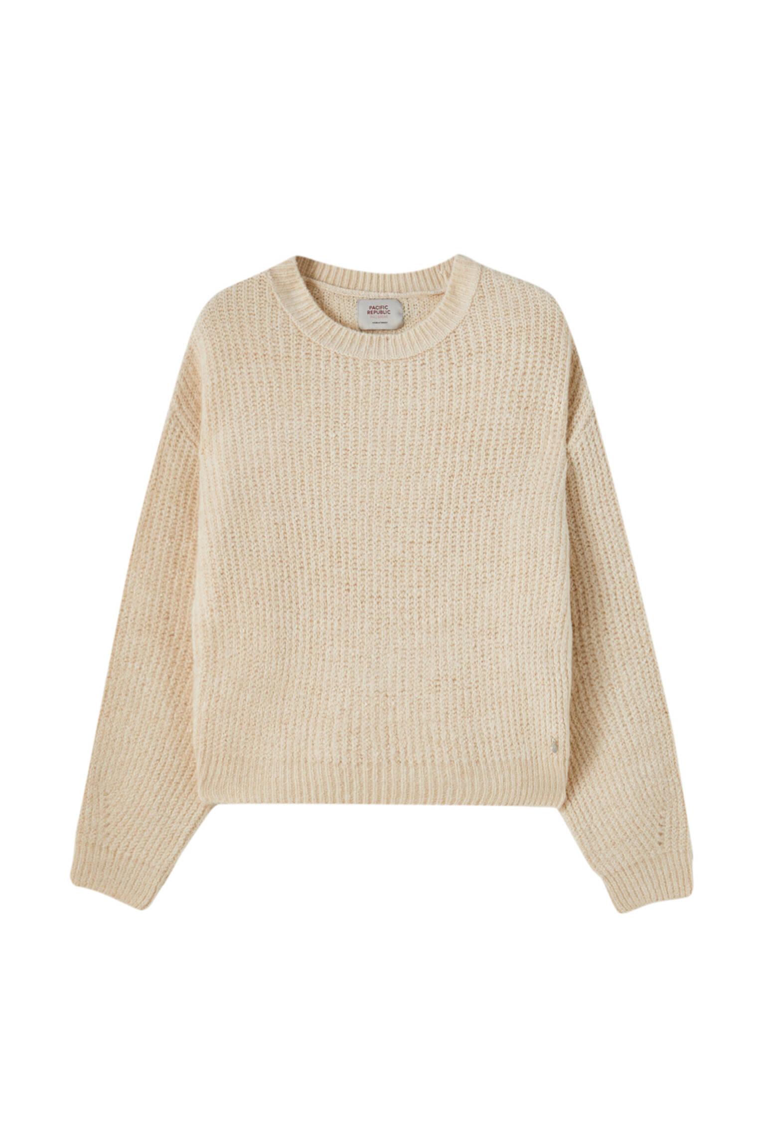 ЦВЕТ ЛЬДА Базовый свитер с объемными рукавами Pull & Bear
