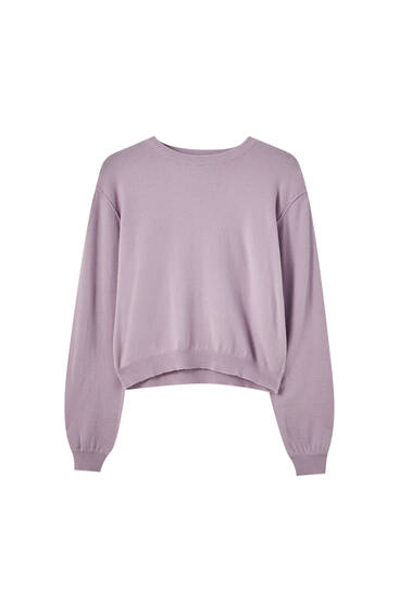 Pull basique maille manches larges