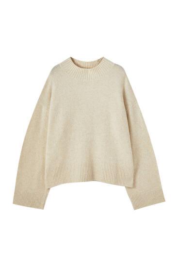 Suéter cuello perkins aberturas