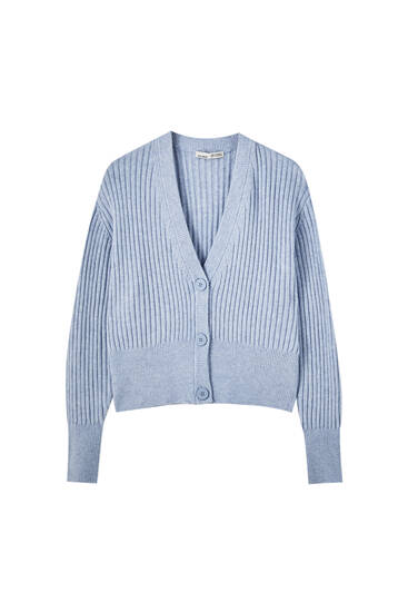 Ribbed soft cardigan