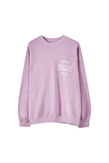 Pink racing print sweatshirt