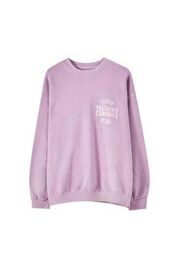 Pink racing print sweatshirt