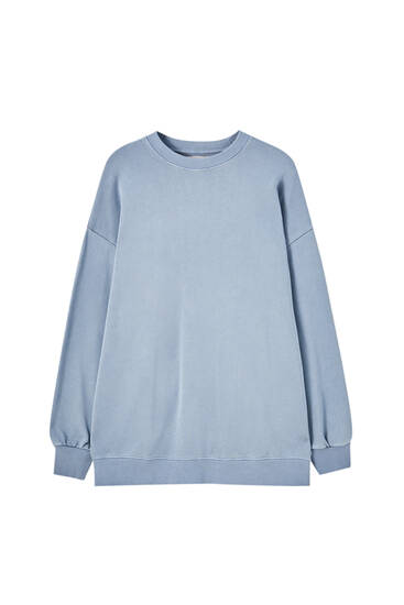 Oversized faded-effect sweatshirt