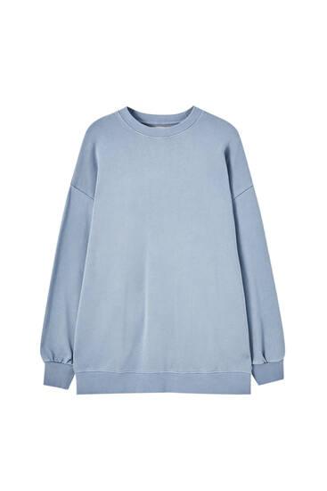 Oversized faded-effect sweatshirt