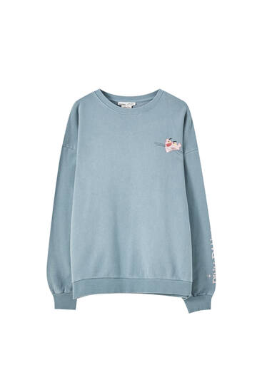 Pink Panther sweatshirt with round neck