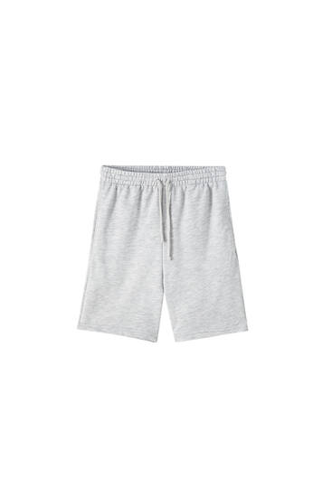 Bermuda joggers with drawstring