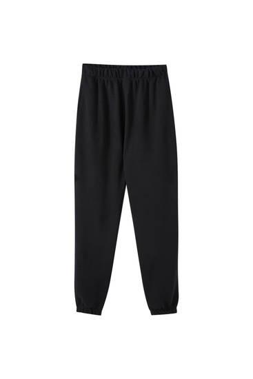 Παντελόνι jogger με λάστιχο στο κάτω μέρος