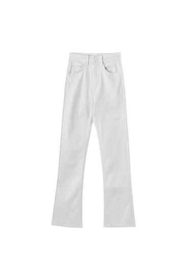 Pantalon enduit flare
