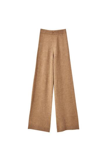 Pantalon palazzo en maille