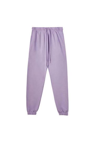 Базовые брюки джоггеры с эластичными манжетами