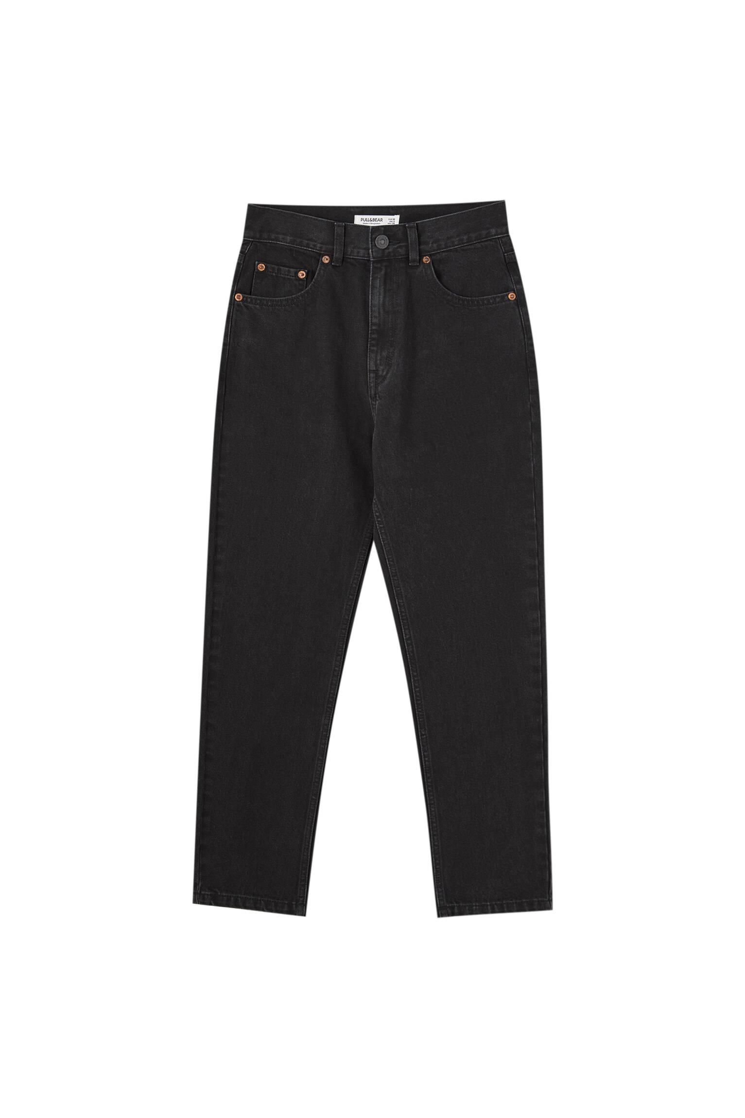 Черный Базовые джинсы mom fit Pull & Bear