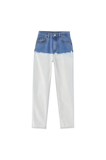 Tie-dye mom jeans - At least 50% ecologically grown cotton