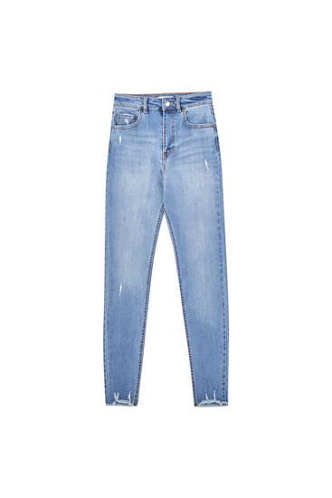 Τζιν παντελόνι skinny high waist