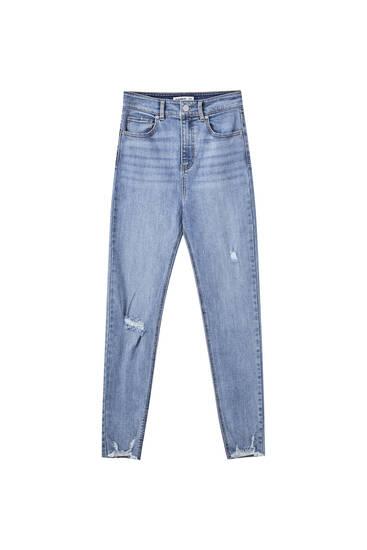 Jeans skinny a la cintura