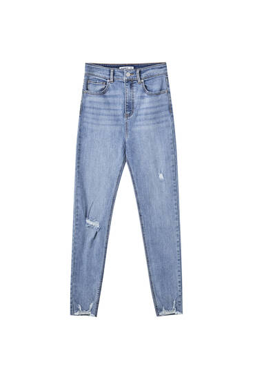 Jeans skinny taille haute