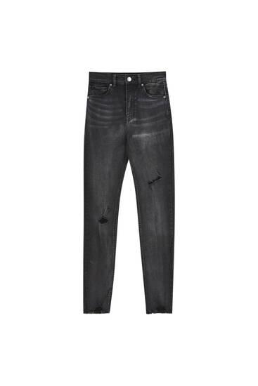 Jeans skinny fit de cintura subida