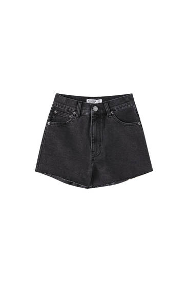Comfort fit denim shorts - At least 50% ecologically grown cotton