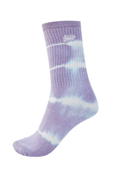 STWD tie-dye sports socks