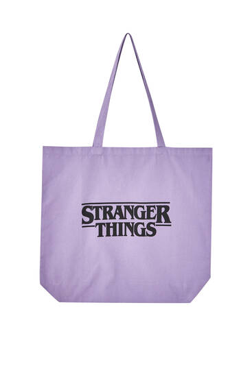 Stranger Things purple bag