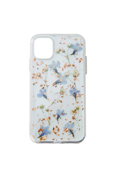 Dried flower print smartphone case