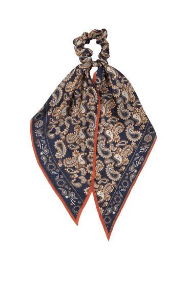 Gumica za kosu u stilu marame s paisley uzorkom