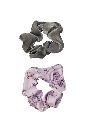 2-pack of printed scrunchies