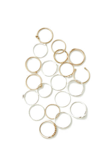 Pack of 20 basic rings