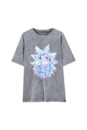 Playera Rick & Morty desgastada