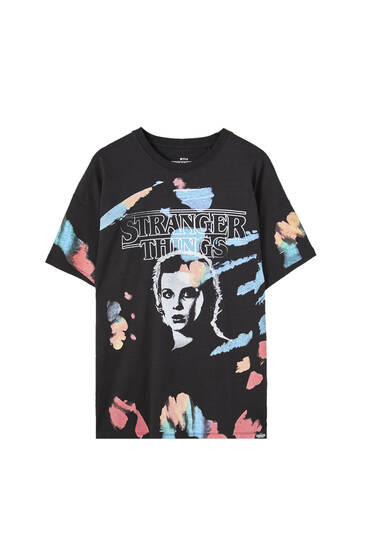 Playera Stranger Things tie dye Once