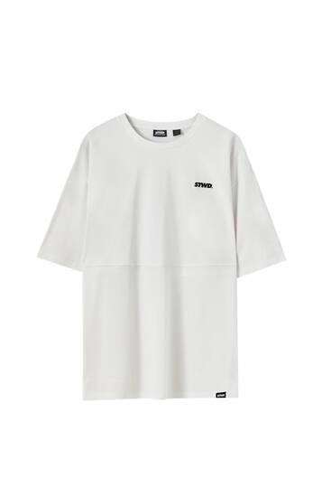T-shirt blanc résille