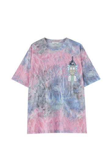 Rick & Morty tie-dye print T-shirt