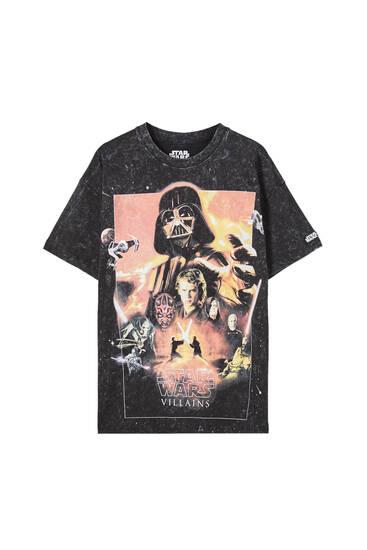 Schwarzes Tie-dye-Shirt Star Wars