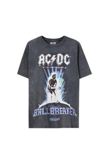Black tie-dye AC/DC T-shirt