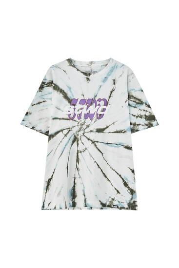 Grå batikmönstrad t-shirt STWD