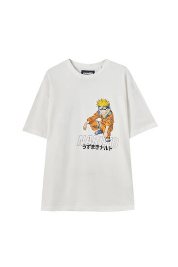 Vit t-shirt Naruto